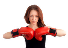 Young female boxer Stock Photo