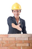 Young female builder Stock Photography