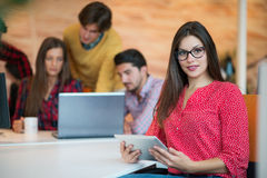 Young female in call center team. Beautifull Young female in call center team stock images