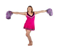 Young female cheerleader Royalty Free Stock Photos