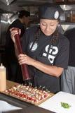Young Female Chef at Arizona Restaurant Week Stock Image
