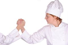 Young female chef ready for a challenge Stock Photos