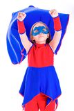 Young girl in superhero costume Royalty Free Stock Image