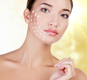 Young female with clean fresh skin Royalty Free Stock Photos
