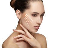 Young female with clean fresh skin Royalty Free Stock Photography