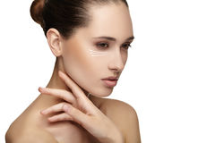 Young female with clean fresh skin Stock Photography