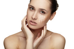 Young female with clean fresh skin Royalty Free Stock Photo