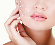 Young female with clean skin Royalty Free Stock Photos