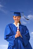 Young Female College Grad Stock Images