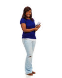 Young female college student holding text books Royalty Free Stock Image