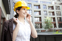 Young female construction engineer Stock Photography