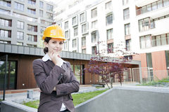 Young female construction engineer Stock Photos