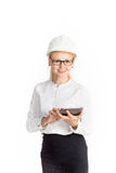 Young female construction specialist Royalty Free Stock Photo