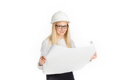 Young female construction specialist Stock Photography