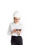 Young female construction specialist Stock Photos
