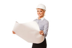 Young female construction specialist Stock Image