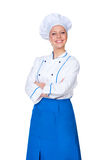 Young female cook looking at camera Royalty Free Stock Photo
