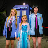 Young female cosplayers Royalty Free Stock Photos