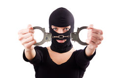 Young female criminal Royalty Free Stock Images