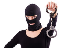 Young female criminal Royalty Free Stock Photo
