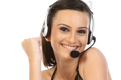 Young female customer service Stock Photo
