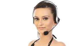 Young female customer service Royalty Free Stock Photos