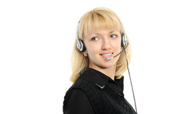 Young female customer service representative Royalty Free Stock Photography