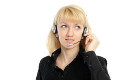Young female customer service representative Royalty Free Stock Photo