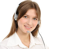 Young Female Customer Service Representative Royalty Free Stock Photos