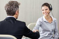 Young Female Customer Service Representative Stock Photography