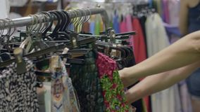 Young Woman Shopping stock video footage
