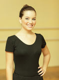 Young female dancer smiling Royalty Free Stock Photos