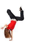 Young female dancing Royalty Free Stock Photo