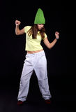 Young female dancing Stock Image