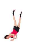 Young female dancing break dance royalty free stock photo