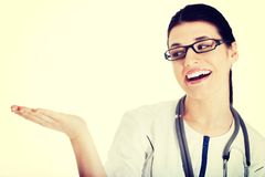 Young female doctor with copy space. Stock Images