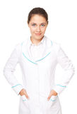 Young female doctor isolated on white background Stock Image