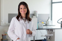 Young female doctor in laboratory environment Stock Photo