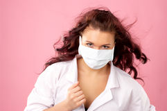 Young female doctor in mask Stock Photos