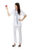 Young female doctor or nurse Royalty Free Stock Photos