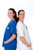 Young female doctor and nurse Royalty Free Stock Photography