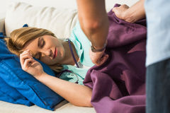 Young female doctor sleeping Royalty Free Stock Images