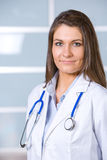 Young female doctor standing Royalty Free Stock Images