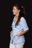 Young female doctor with stethoscope Stock Photos