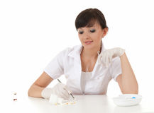 Young female doctor in work Stock Photo