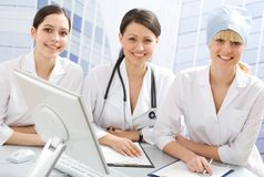 Young female doctors Stock Photos