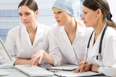 Young female doctors Stock Photo