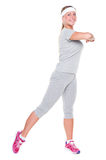 Young female doing aerobics Stock Image