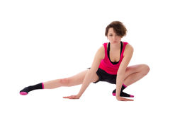 Young female doing exercise stock photography