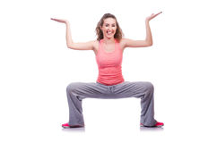 Young female doing exercises Royalty Free Stock Photo